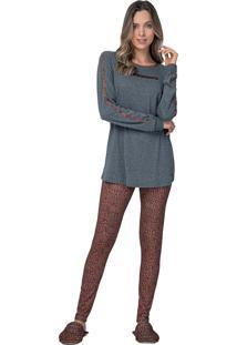 Pijama Legging Merci - Lua Luá - Cinza