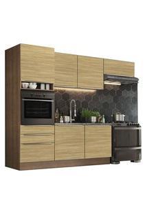 Cozinha Completa Madesa Lux Com Armário E Balcão 6 Portas 3 Gavetas Rustic/Carvalho Rustic