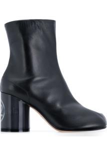 Maison Margiela Ankle Boot 'Tabi' De Couro - Preto