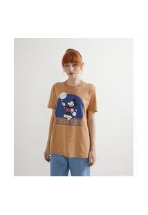 Blusa Alongada Em Algodão Com Estampa Do Mickey Mouse