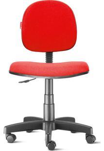 Cadeira Executiva Giratória Crepe Vermelha