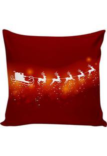 Capa De Almofada Trenã³ Papai Noel- Bordã´ & Branca- 4Stm Home