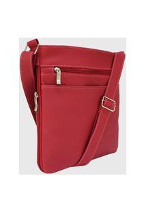 Bolsa Lenna'S Transversal Básica Le05 Vermelha