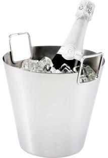 Balde Cori Prata Para Champagne Riva
