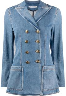 Philosophy Di Lorenzo Serafini Blazer Jeans Com Abotoamento Duplo - Azul