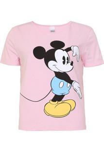Blusa Cativa Disney Mickey Rosa