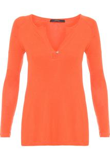 Blusa Feminina Raglan Colors - Laranja