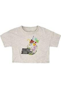 T-Shirt Em Malha De Algodão Com Aplicação De Paetê