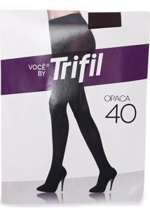 Meia Calça Fio 40 Feminina Trifil - Marrom