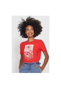 Camiseta Cantão The Sea Vermelha