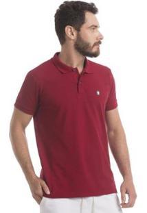 Camisa Polo Piquet Zaiden Style S1 Masculina - Masculino-Vermelho Escuro