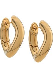 Balenciaga Par De Brincos De Argolas - Dourado