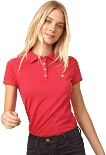 Camisa Polo Aeropostale Lisa Vermelha