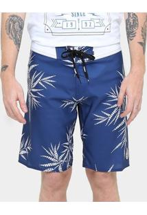Bermuda Element Board Nam Palm - Masculino-Azul