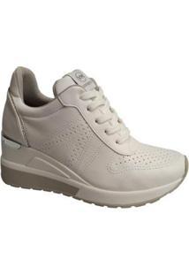 Tenis Sneaker Anabela Plataforma Via Marte Feminino - Feminino-Branco