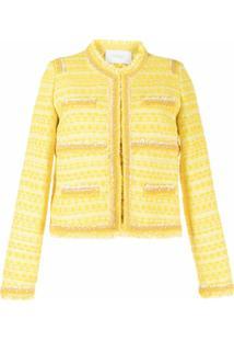 Giambattista Valli Jaqueta Com Padronagem De Tweed - Amarelo