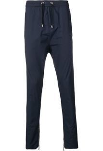 Balmain Tapered Drawstring Trousers - Azul