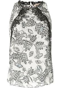Fillity Blusa De Seda Estampada - Branco