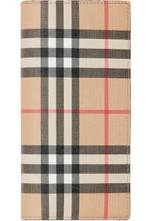 Burberry Carteira Continental Xadrez - Neutro