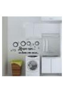Adesivo De Parede Frase Roupa Suja Se Lava Em Casa - M 30X70Cm