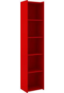 Estante Biblioteca- Vermelha- 182X40X30Cm- Movelmovel Bento