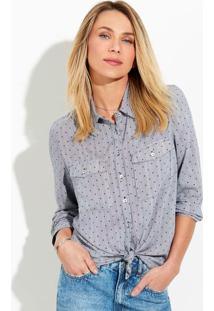 Camisa Feminina Em Tecido De Viscose Mullet