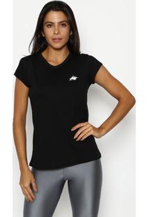 Camiseta Com Recortes - Preta & Brancaclub Polo Collection