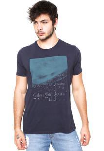 Camiseta Calvin Klein Jeans Quadrado Azul