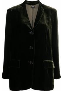 Aspesi Velvet Tailored Blazer - Verde