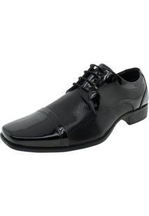 Sapato Masculino Social Garden Verniz/Preto Valecci - 73049