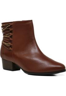 Bota Ankle Boot Couro Inverno Elegante Carolina Martori - Feminino