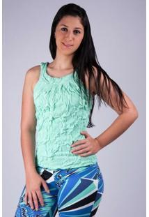 Blusa Drapeada - Salto Triplo - Feminino-Verde Claro
