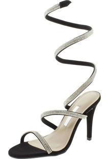 172f189de8 Clóvis Calçados. Sandália Com Salto Alto Preta Via Marte Conforto 1820911 -  Feminina
