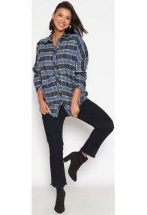 Camisa Xadrez- Azul Escuro & Cinzakwi