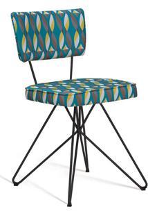 Cadeira Butterfly Retro Preto E Cinza
