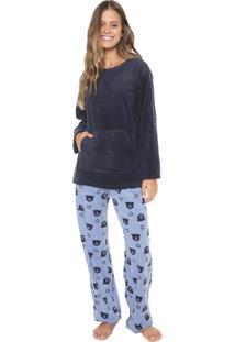 Pijama Any Any Heart Bear Azul