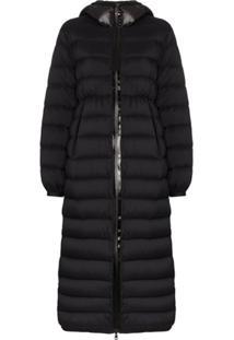 Moncler Grue Long Padded Coat - Preto