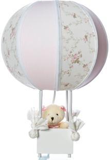Abajur Balãozinho Ursa Potinho De Mel Rosa - Kanui