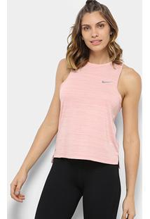 Regata Nike Dri-Fit Miler Slub Lx Feminina - Feminino-Bege
