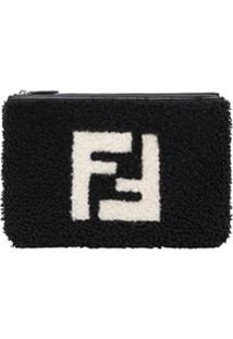 Fendi Carteira Com Logo - Preto