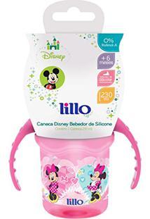 Caneca Lillo Disney Com Bebedor De Silicone - Minnie Rosa 230Ml