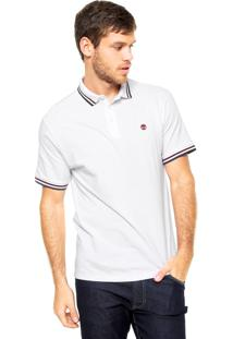 Camisa Polo Timberland Slim Branca