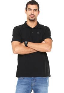 Camisa Polo Oakley Patch Preta