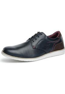 Sapato Mr L.White Oxford Perfuro Azul