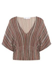 Blusa Feminina Energy Knit Kylie - Marrom