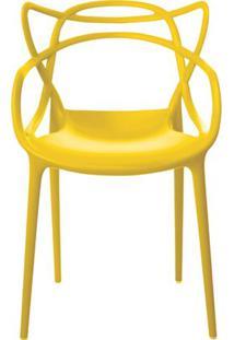 Cadeira Allegra Em Polipropileno Cor Amarelo - 44931 Sun House