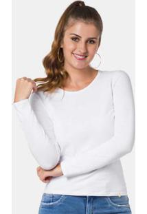 Blusa Malha Cotton Thirty Branco