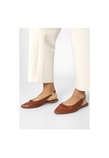 Sapatilha Dafiti Shoes Slingback Caramelo