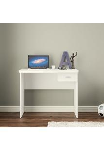 Mesa Para Computador Resende 1 Gaveta Branco - Politorno