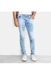 Calça Jeans Skinny Preston Classic Destroyed Masculina - Masculino